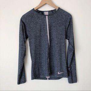 Nike Pro HyperCool Long Sleeve Running Tee Gray
